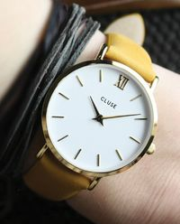 Zegarek Minuit Gold White/Mustard