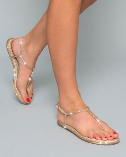 Sandály s krystaly Swarovski
