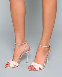 Sandały z aksamitu