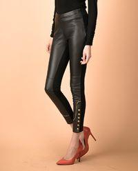 Skórzane spodnie Cerniera
