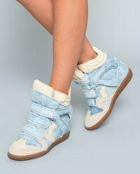 Sneakersy Bekett Denim z ukrytym koturnem 8 cm