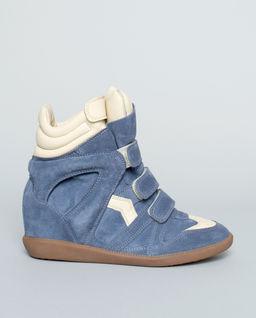 Sneakersy Bekett Blue z ukrytym koturnem 8 cm