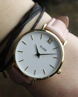 Zegarek Minuit Gold White/Pink