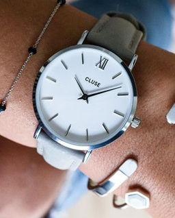 Zegarek Minuit Silver White/Grey
