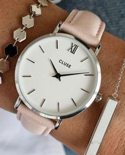 Zegarek Minuit Silver White/Pink