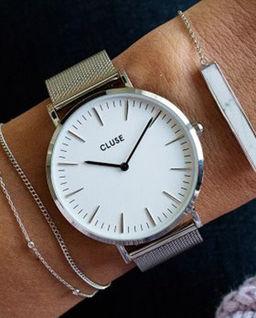 Zegarek La Bohème Silver White/Silver