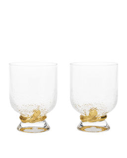 Zestaw dwóch kryształowych szklanek Python
