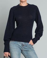 Sweter z kaszmiru - granatowy