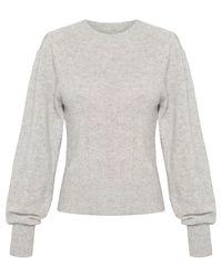 Sweter z kaszmiru - szary