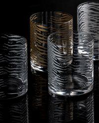 Zestaw sześciu szklanek Zebra Platin