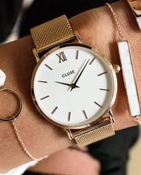 Zegarek Minuit Rose Gold White/Rose