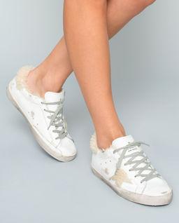 Skórzane sneakersy z ociepleniem