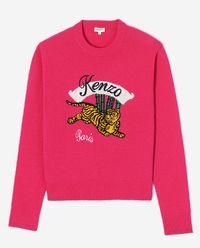 Wełniany sweter z tygrysem