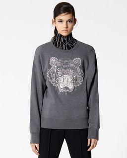 Bluza z ozdobnym tygrysem