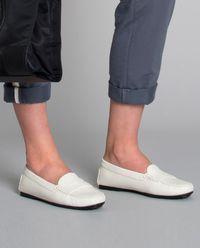 Białe loafery Gommino City
