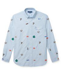 Koszula Slim Fit Oxford z naszywkami