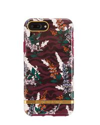 iPhone 6, 6s, 7, 8 Case Floral Zebra