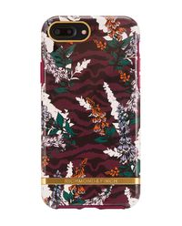 iPhone 6+, 6s+, 7+, 8+ Case Floral Zebra