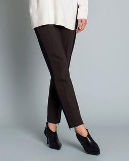 Brązowe spodnie z lampasem