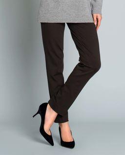 Brązowe spodnie w kant
