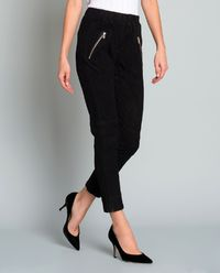 Czarne spodnie z zamszu