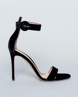 Sandały Portofino z weluru czarne