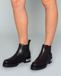 Kožené jodhpur boty