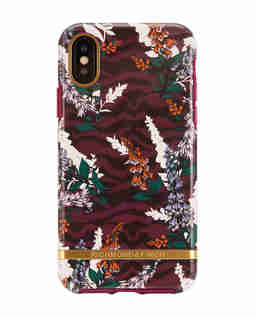 iPhone X Case Floral Zebra