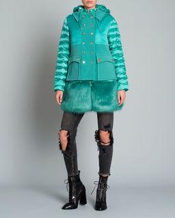 Płaszcz z satynową kamizelką