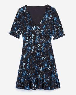 Jedwabna sukienka w kawiaty