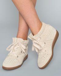 Sneakersy Bobby Chalk z ukrytym koturnem 5 cm