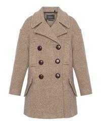 Krótki płaszcz z wełny