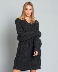 Długi sweter z wełny