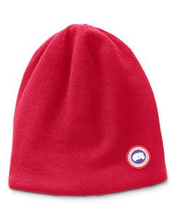 Czerwona czapka z wełny
