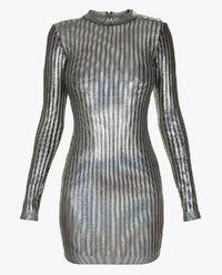 Błyszcząca mini sukienka