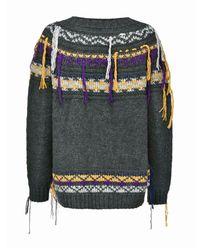 Sweter z frędzlami Acalypha