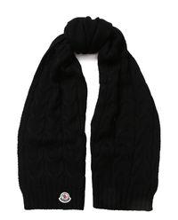 Wełniany szalik - czarny