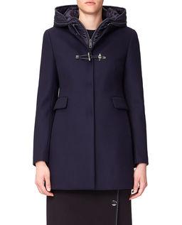 Wełniany płaszcz z domieszką kaszmiru