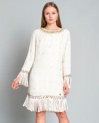 Zdobiona sukienka z frędzlami