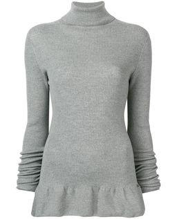 Sweter wełniany z golfem