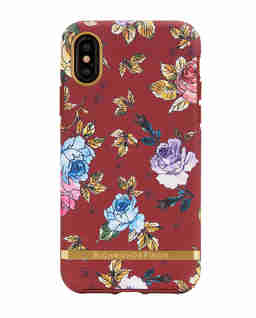 iPhone X Case Red Floral