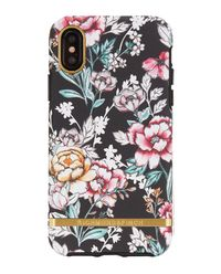 iPhone X Case Black Floral