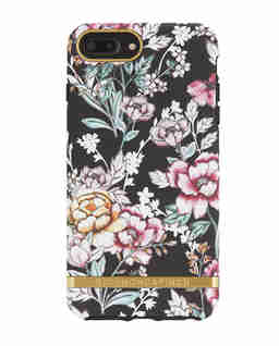 iPhone 6+, 6s+, 7+, 8+ Case Black Floral