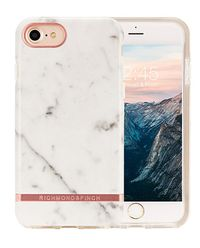 iPhone 6+, 6s+, 7+, 8+ Case White Marble-Rose