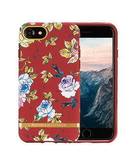iPhone 6, 6s, 7, 8 Case Red Floral