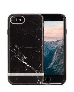 iPhone 6, 6s, 7, 8 Black Marble-Silver