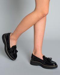 Loafery ze skóry lakierowanej
