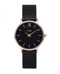 Zegarek Minuit Mesh Rose Gold Black