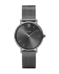 Zegarek Minuit Mesh Dark Grey