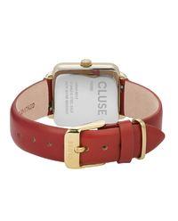 Zegarek La Garconne Gold Scarlet Red